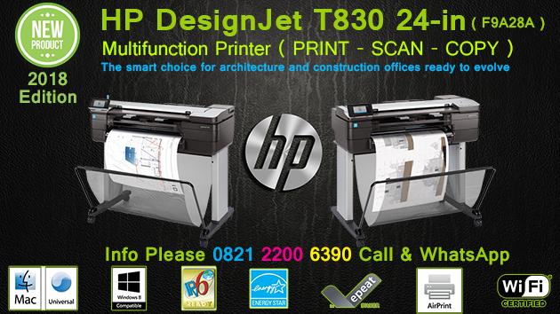Jual Plotter HP Designjet T830 MFP 24in A1